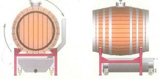 Una barrica de 500 litros muy ergonómica, rotativa y con sistema antiderrame
