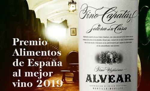 Tecnovino Premio Alimentos de Espana al Mejor Vino en 2019 Fino Capataz Solera de la Casa detalle