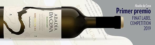 Tecnovino IPE etiqueta para el vino Abadia Da Cova 2