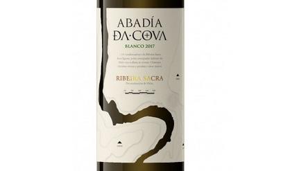 Tecnovino IPE etiqueta para el vino Abadia Da Cova detalle