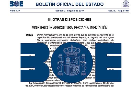 Tecnovino Extension de Norma de la Interprofesional del Vino