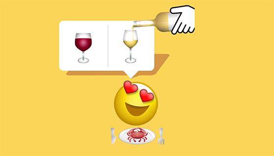 Tecnovino emoji de vino blanco Unicode bodega Kendall Jackson 1