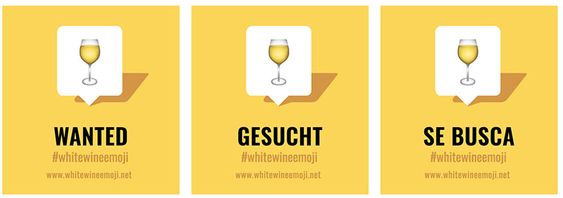 Tecnovino emoji de vino blanco Unicode bodega Kendall Jackson 2