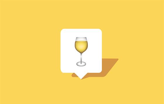 Tecnovino emoji de vino blanco detalle
