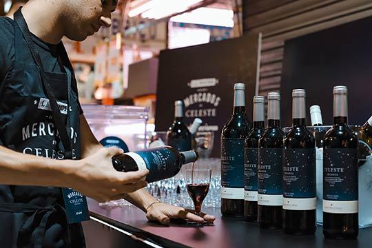 Tecnovino vino Celeste Crianza La Noche de los Mercados 1