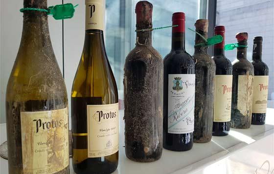 Tecnovino vinos submarinos de Bodegas Protos