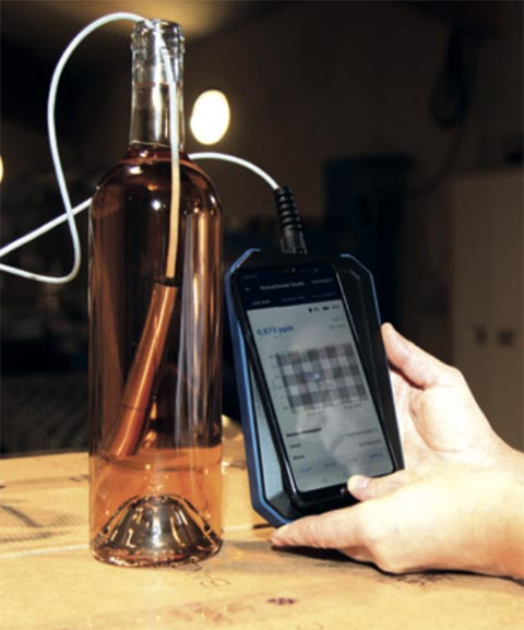 Tecnovino analizadores portatiles para vino Nomasense Oxymeter 5