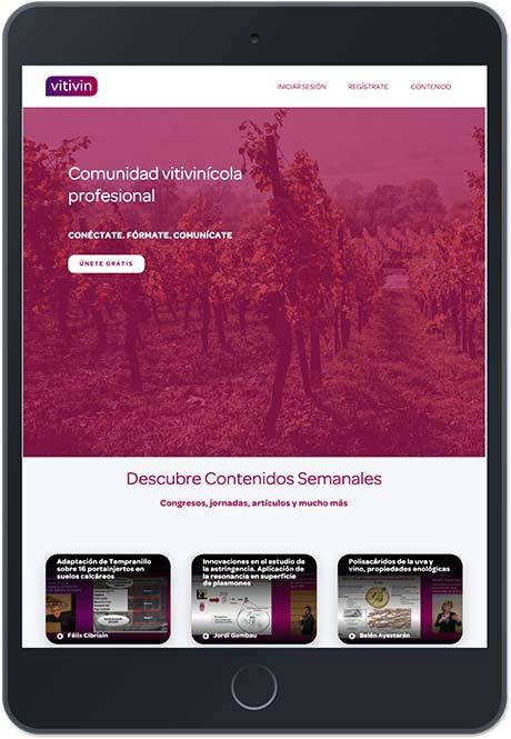 Tecnovino formacion para la actividad vitivinicola Vitivin iPad