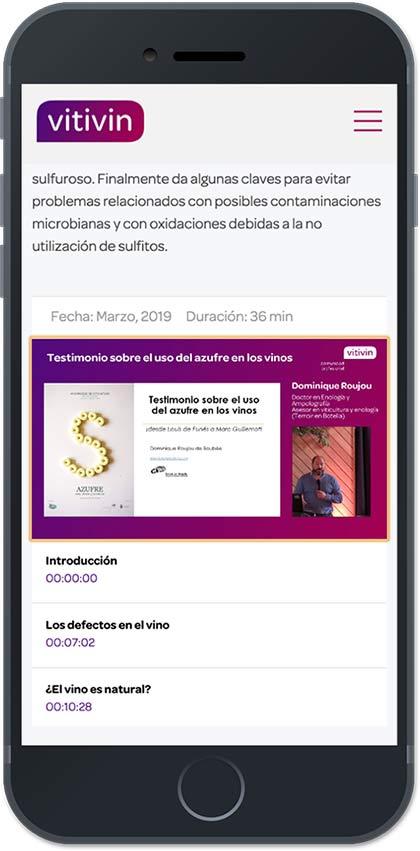 Tecnovino formacion para la actividad vitivinicola Vitivin iPhone