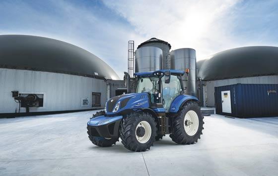 Tecnovino tractor a metano de New Holland detalle