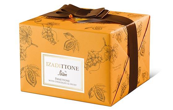 Tecnovino Izadittone panettone con orujo de uvas detalle