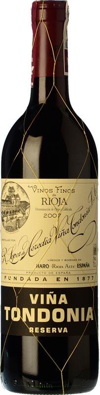 Tecnovino vinos mas vendidos Vinissimus Vina Tondonia Reserva