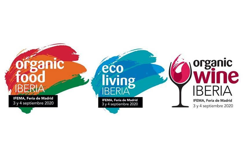 Tecnovino Organic Food Iberia 2020 y Organic Wine Iberia logos detalle