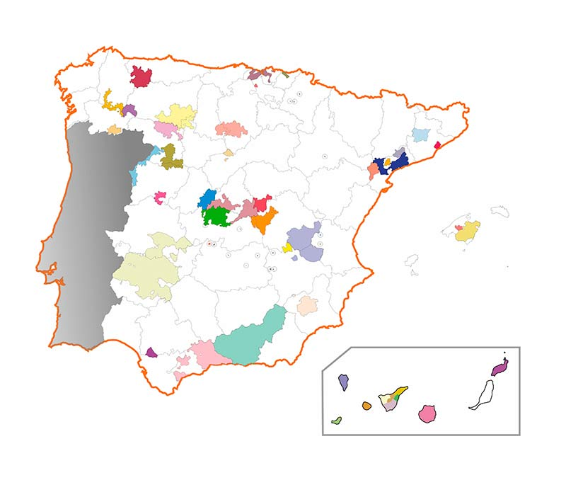 Tecnovino mapa Pequenas DOs
