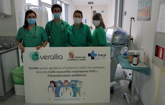 Tecnovino Verallia donacion Hospital del Burgos