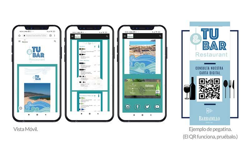 Tecnovino solucion tecnologica de cartas digitales Barbadillo detalle