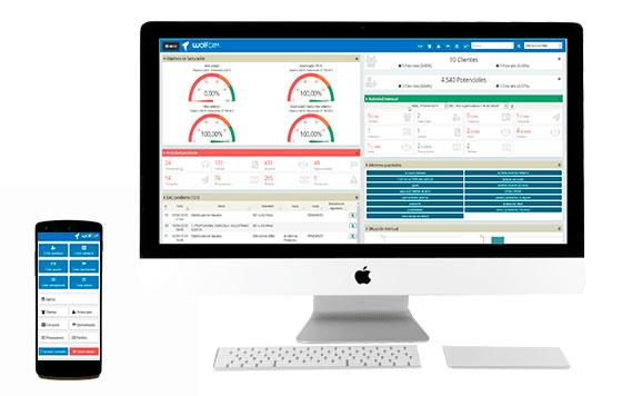 Tecnovino Wolf CRM gestion para bodegas dispositivos usar un CRM detalle