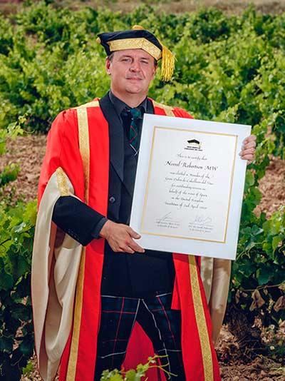 Tecnovino Gran Orden de Caballeros del Vino Norrel Robertson MW