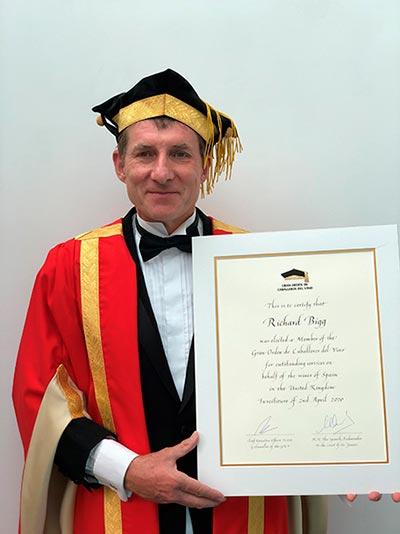 Tecnovino Gran Orden de Caballeros del Vino Richard Bigg