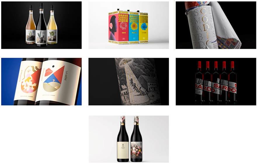 Tecnovino Pentawards disenos de vino