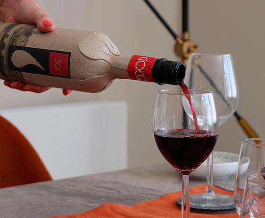 Tecnovino botella para vino de cartón reciclado Frugal bottle