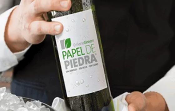 Tecnovino etiquetas para vino Papel de Piedra