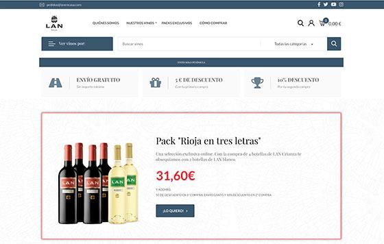 Tecnovino portal de venta online de LAN