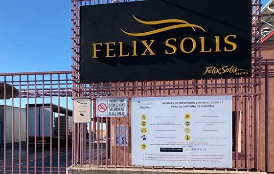 Tecnovino Felix Solis certificado Agrocovid 19