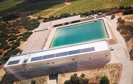 Tecnovino Finca Antigua instalacion solar fotovoltaica detalle