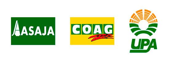 Tecnovino ASAJA COAG UPA logos