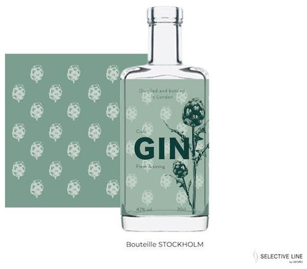 Tecnovino diseño de envases de vidrio Verallia Gin