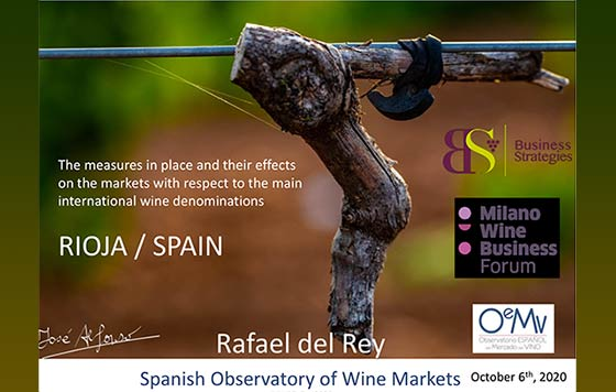 Tecnovino comercio mundial de vino vinos de Rioja Covid 19