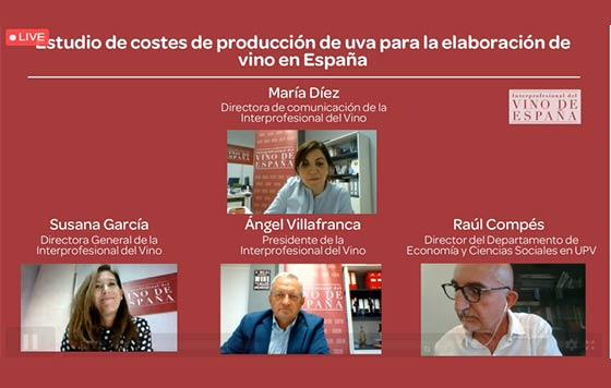Tecnovino estudio de costes de producción de uva para vino OIVE