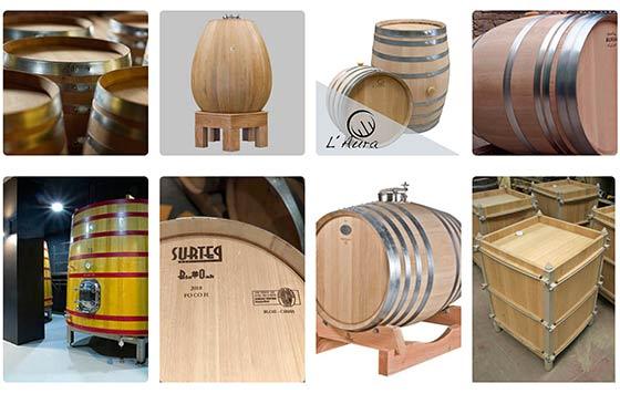 Tecnovino recipientes de madera para vino detalle