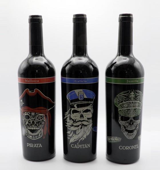 Tecnovino serigrafia en vidrio para vino Studio Glass 5 Pirata