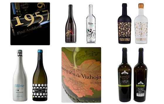 Tecnovino serigrafia en vidrio para vino detalle