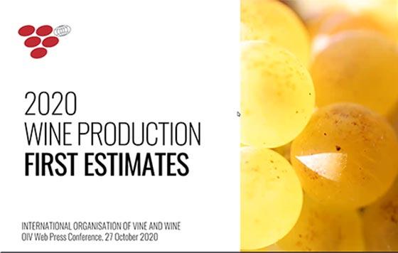 Tecnovino produccion mundial de vino en 2020 OIV detalle