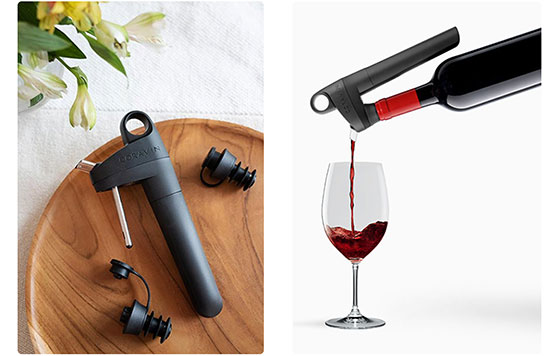 Tecnovino sistema de preservacion de vino Pivot Coravin detalle