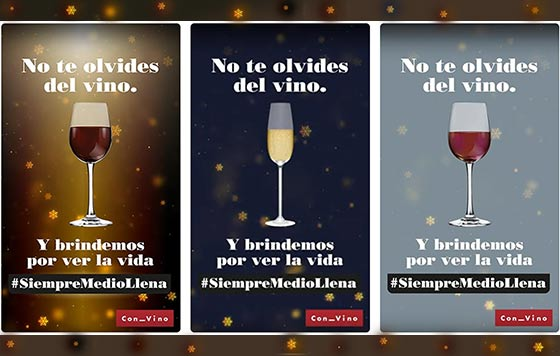 Tecnovino compra de vino en Navidad campanas detalle