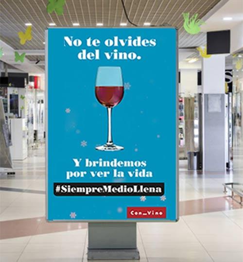 Tecnovino compra de vino en Navidad campana OIVE centros comerciales