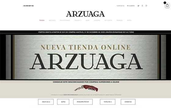 Tecnovino tienda online Bodegas Arzuaga detalle
