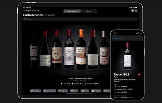 Tecnovino cartas de vino digitalizadas Winerim detalle