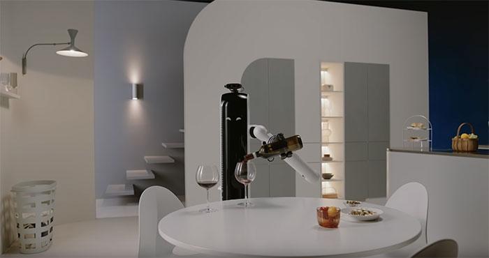Tecnovino innovaciones para vino CES 2021 Samsung robot vino