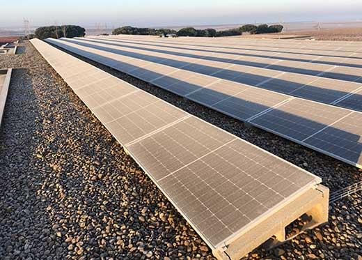 Tecnovino energías renovables González Byass Beronia Rueda fotovoltaica