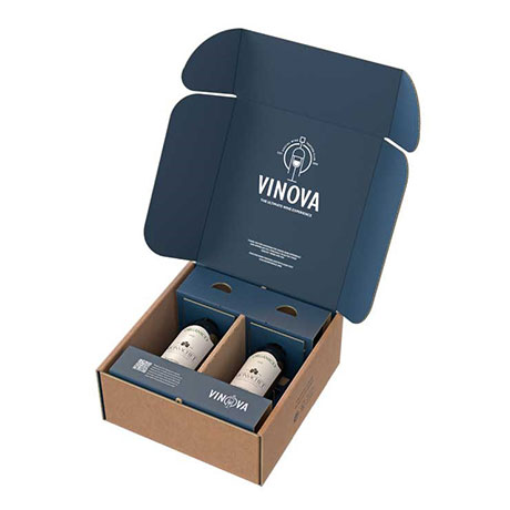 Tecnovino packaging para botellas de vidrio eBottle Smurfit Kappa envase bipack