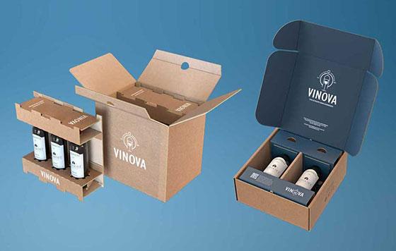 Tecnovino packaging para botellas de vidrio eBottle Smurfit Kappa