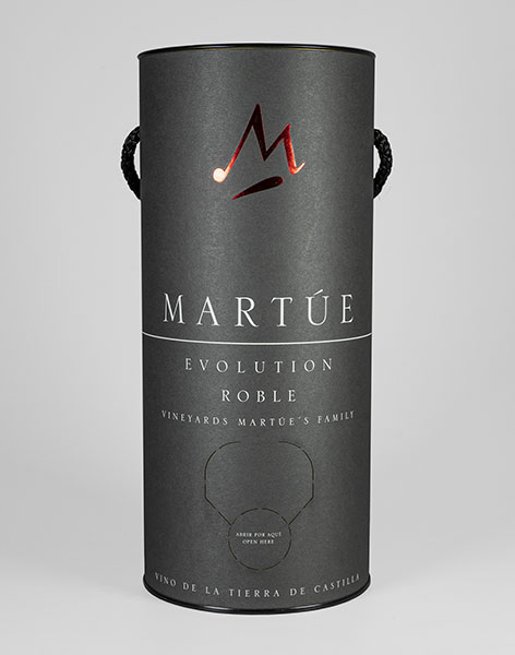 Tecnovino envase sostenible vinos Martue Evolution Bodegas Martue tinto