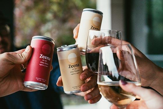 Tecnovino vinos Zeena en lata grupo