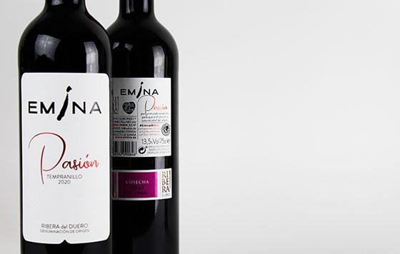Tecnovino vino Emina Pasion Bodega Emina detalle