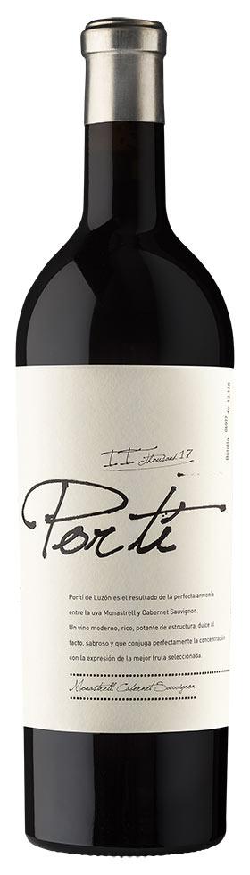 Tecnovino vino Por ti 2017 Bodegas Luzón botella